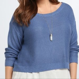 Torrid blue cropped sweater 2x